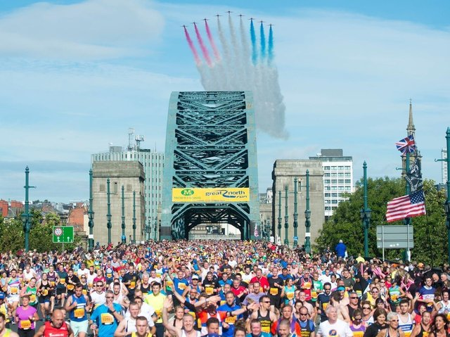 A record 60,000 entrants are due to take part in the 2020 Great North Run.