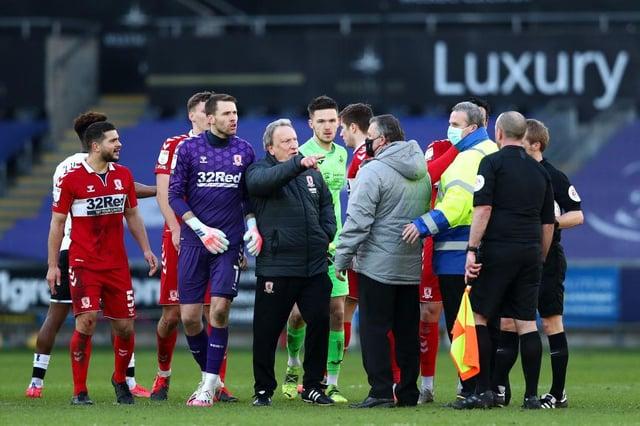 Middlesbrough boss Neil Warnock at Swansea.