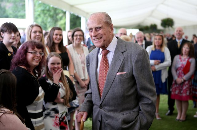 The Duke of Edinburgh attending the Presentation Reception for The Duke of Edinburgh Gold Award holders. Photo credit: Jane Barlow/PA Wire.