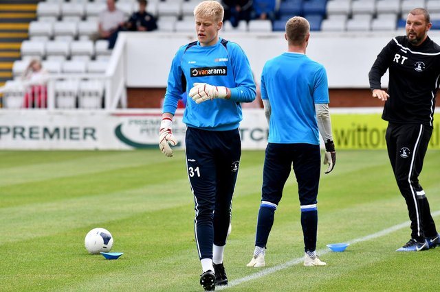 Hartlepool United goalkeeper Brad Young (photo: Frank Reid).
