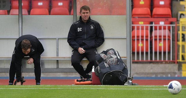 Hartlepool United manager Dave Challinor during the pre-season friendly against Gateshead. Picture by FRANK REID