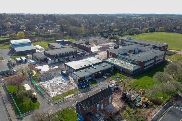 An overview of High Tunstall College of Science's old site now being demolished.