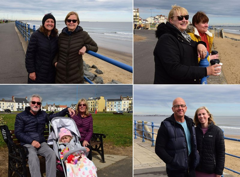 Walkers at Seaton Carew the day after a major easing of lockdown restrictions.