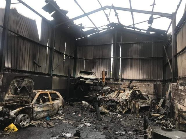 The garage had to stop trading after the fire./Photo: Nicole Mcbeth