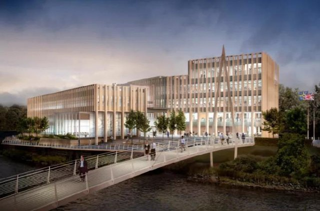 Artistic impression of the new Durham County Council headquarters.