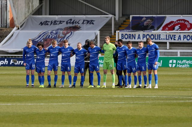 Hartlepool United team. (Credit: Chris Booth   MI News)
