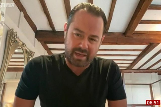 """Screengrab from BBC Breakfast of actor Danny Dyer who has said in an interview with BBC Breakfast that the coronavirus pandemic has proved """"people who went to Eton"""" are unable to run the country. Eton College counts both Prime Minister Boris Johnson and former premier David Cameron among its former students."""