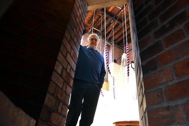 St Aidan's Church bellringer Andrew Frost.