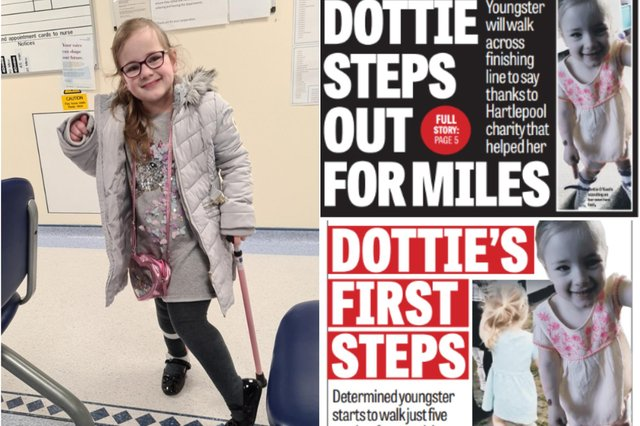 What a transformation. Look at Dottie O'Keefe now - just three years after she underwent an operation.