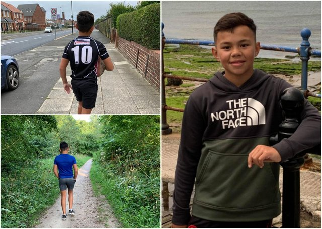 Big-hearted Hartlepool youngster Lewin Tubuna is going great guns in his bid to raise money for charity before he reaches his 12th birthday.