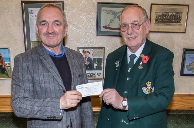 Boer War statue appeal treasurer Stephen Close received £500 from ex DLI soldier Frank Peers.