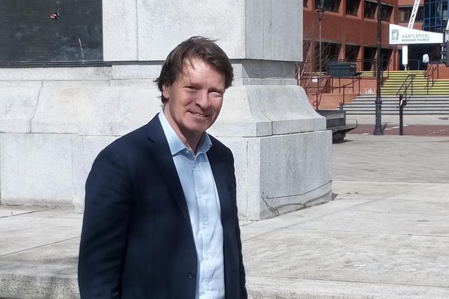 Reform UK leader Richard Tice in Hartlepool town centre on Wednesday.