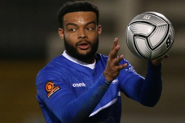 Ryan Johnson in action for Hartlepool United (Credit: Mark Fletcher | MI News)