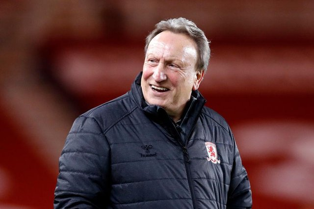 Middlesbrough boss Neil Warnock.