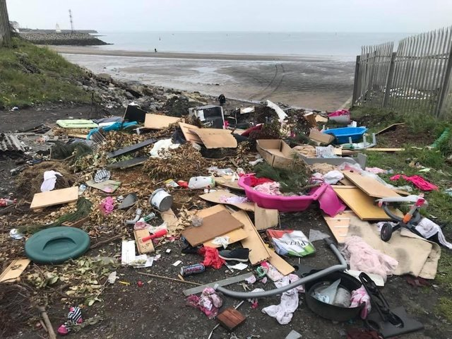 Rubbish dumped at Middleton, Hartlepool
