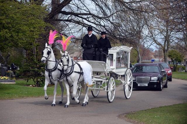 Funeral of 10 year old Keisha Watson at Stranton Cemetery & Crematorium, Hartlepool.