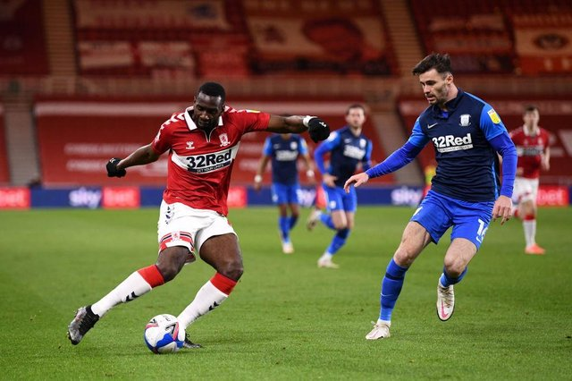 Yannick Bolasie playing for Middlesbrough.