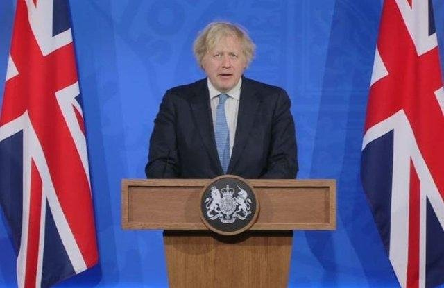 Prime Minister Boris Johnson during a media briefing in Downing Street on Monday, April 5. Picture: PA Video/PA Wire
