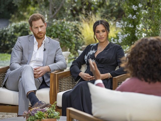 Ker-Ching. The Duke and Duchess of Sussex during their interview with Oprah Winfrey which was broadcast in the US on March 7.