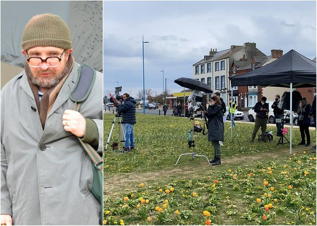 Filming of The Thief, His Wife and the Canoe, starring Eddie Marsan, left, as canoe conman John Darwin, has started in Hartlepool.
