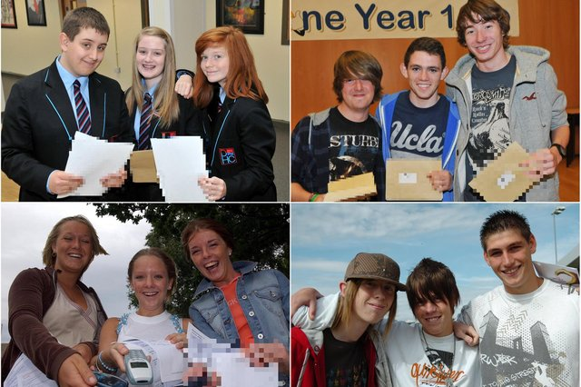 They were all pictured on results day but can you spot someone you know?