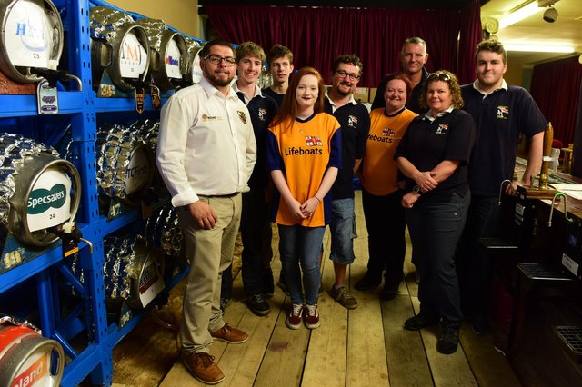Members of Hartlepool Round Table at a previous year's Beer Festival at the Borough Hall.