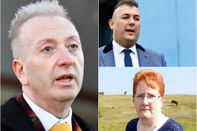 Long-serving Hartlepool councillors, clockwise from left, Christopher Akers-Belcher, Stephen Akers-Belcher and Marjorie James are all standing down in May.