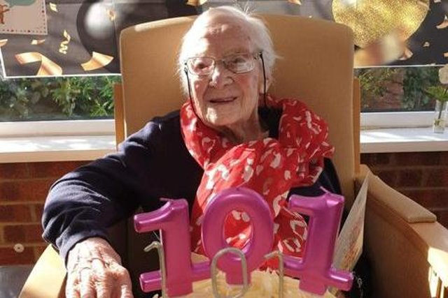 Covid battler Joyce Coward turned 101 on March 15. Photo: Michelle Robson