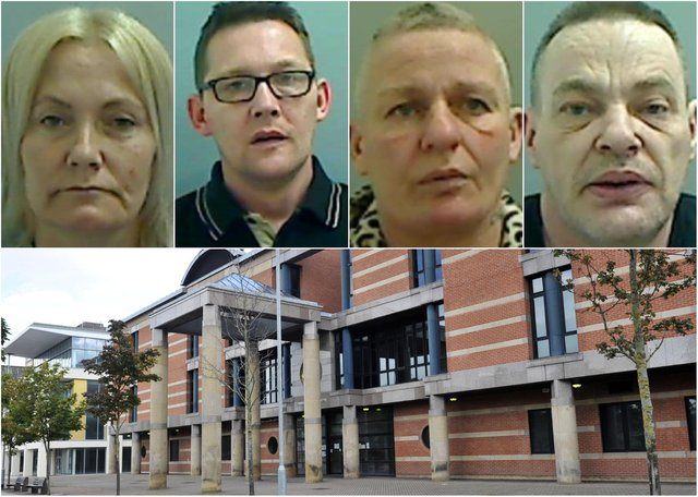 Some of the criminals from the Hartlepool area who have recently started jail sentences.