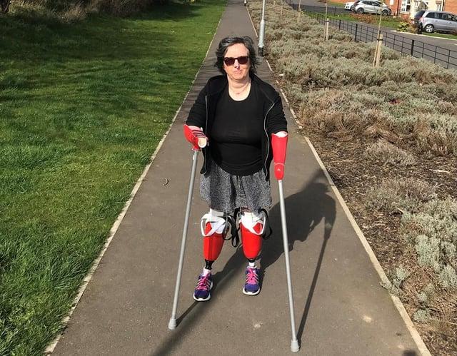 Allison Friday enjoys a walk close to her Hartlepool.