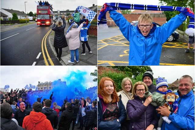 Fans turned out to celebrate Hartlepool United's promotion.