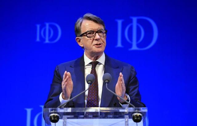 Lord Peter Mandelson. Photo credit: Jonathan Brady/PA Wire.