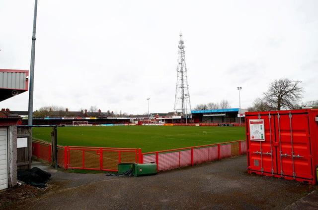 Altrincham FC's J Davidson Stadium. Getty Images)