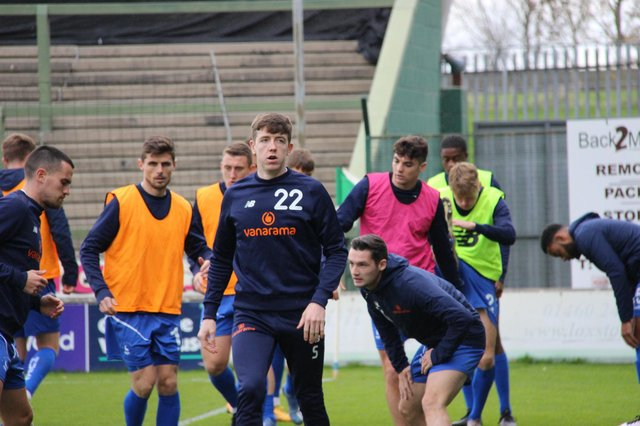 Tom Crawford is set to feature this afternoon (photo: HUFC/Alex Chandy)