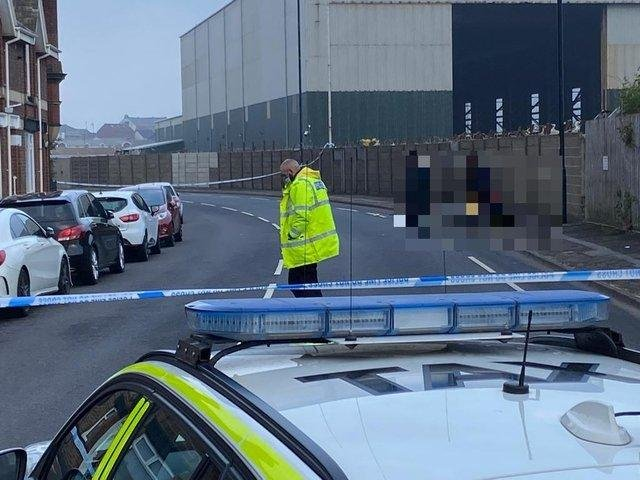 Cleveland Police closed off Northgate on the Headland on Saturday evening as inquiries got underway into the collision.