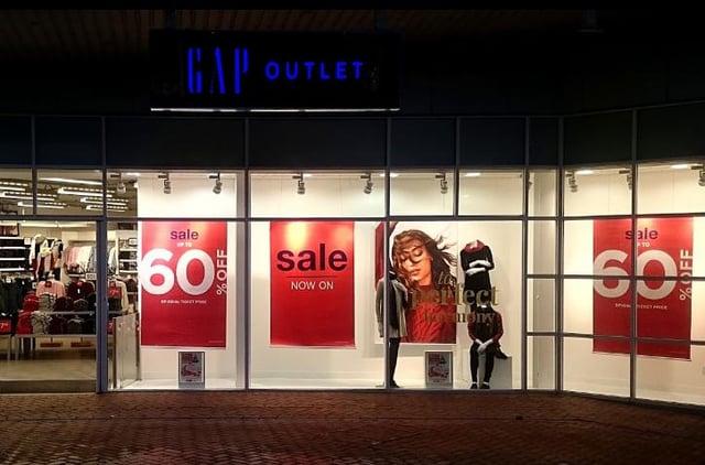 GAP store, Royal Quays Outlet Centre.