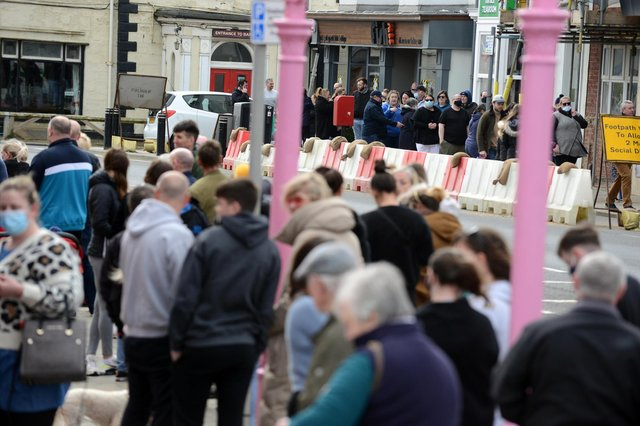 Crowds have flocked to Seaton Carew across the 2021 bank holiday weekends.