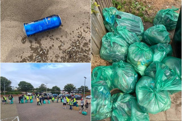 The Hartlepool Big Town Tidy Up group which is making huge inroads into the town's litter problem.
