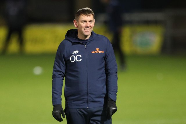 Hartlepool manager, Dave Challinor. (Credit: Mark Fletcher | MI News)