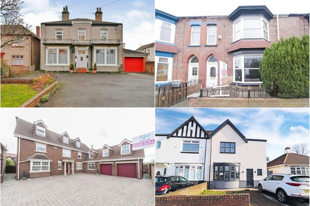 Four houses in Hartlepool which will qualify for the stamp duty break.
