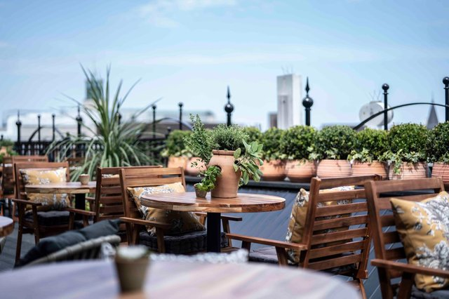 The new rooftop restaurant at Fenwick in Newcastle.