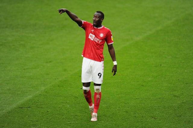 Famara Diedhiou playing for Bristol City.