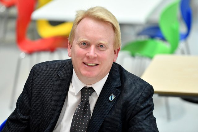 Mark Tilling, the headteacher of High Tunstall College of Science, in Hartlepool.