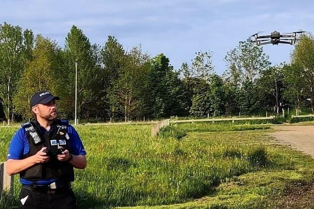 PCSO Mark Say is Hartlepool'sfirst police drone pilot.