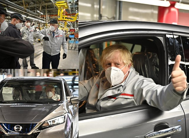 Prime Minister Boris Johnson visited Nissan on Thursday, July 1.