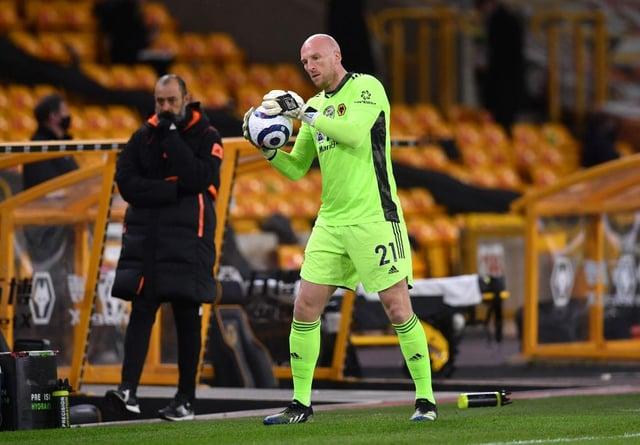 Wolves goalkeeper John Ruddy.