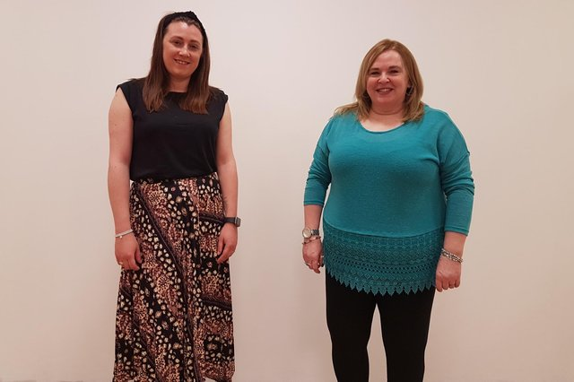 Covid Engagement Officers Hannah Goodman (left) and Julie French.
