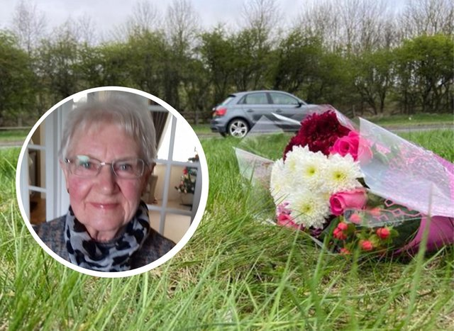Floral tributes have been left at the scene of a fatal crash near Greatham