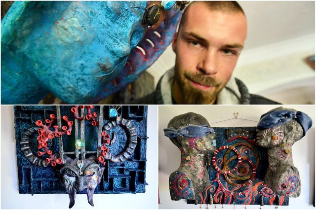Danny Short is staging a new exhibition of his surreal art.