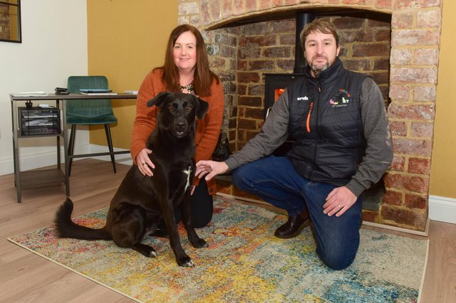 Darren Bates and his wife Pamela who run the pet cremation service, Roxy's Rainbow, based in Greatham Street, Hartlepool.